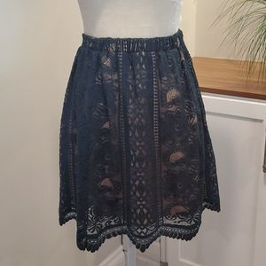 Green Lace Skirt, Size Small